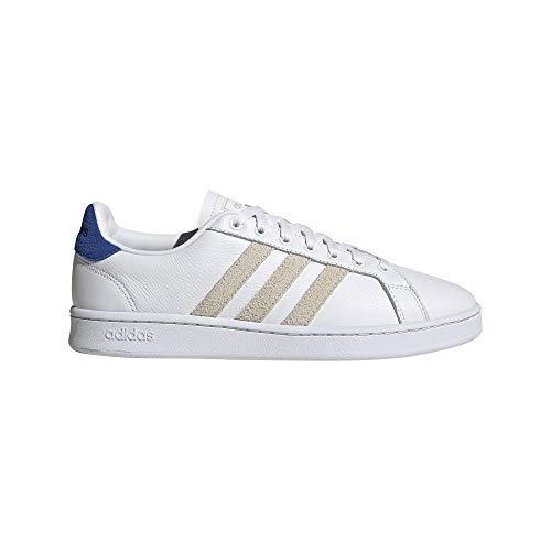adidas Grand Court, Zapatillas de Tenis para Hombre, FTWBLA/ALUMIN/AZUREA, 46.67 EU