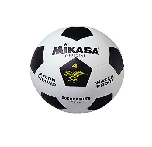 MIKASA 3009 - Balón de fútbol, Color Blanco/Negro, Talla 4