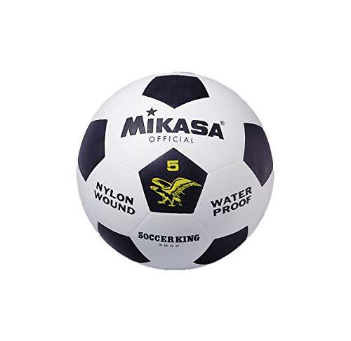 MIKASA 3000 - Balón de fútbol, Color Blanco/Negro, Talla 5