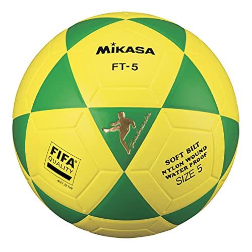 MIKASA FT5 FQ, balón Especial de fútbol Unisex Adulto, Verde/Amarillo, 5