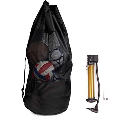 BRAMBLE Bolsa Extra Grande de Malla para Fútbol con Bomba, 110cm - Impermeable