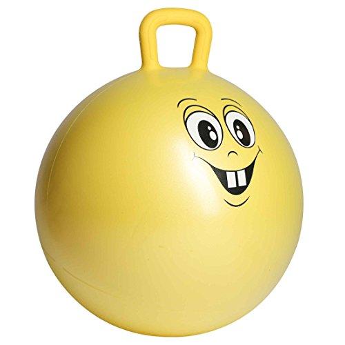 Ultrasport Pelota saltarina,de goma, de juego,robusto balón para niños a partir de 3 años,con asa y diseño, cara graciosa, pelota de goma, pelota de juego,interior y exterior,grandes y pequeños