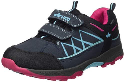 Lico Griffin Low V, Zapatillas para Correr de Diferentes Deportes para Niñas, Marino/Turquesa/Rosa, 40 EU