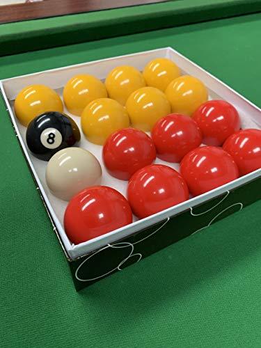 """Rojo y Amarillo 2"""" Pool Set balóns (1 7/8 Ball Cue pulgadas)"""