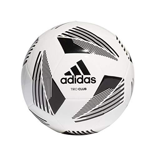 adidas Tiro Club Balón de fútbol, Unisex Adulto, Blanco/Negro, 4