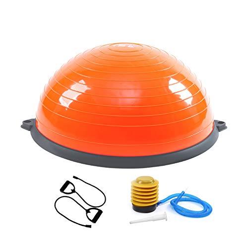 ISE BAS-1001 - Balón de entrenamiento con cable de resistencia y bomba, para yoga, gimnasia y otros deportes (naranja)