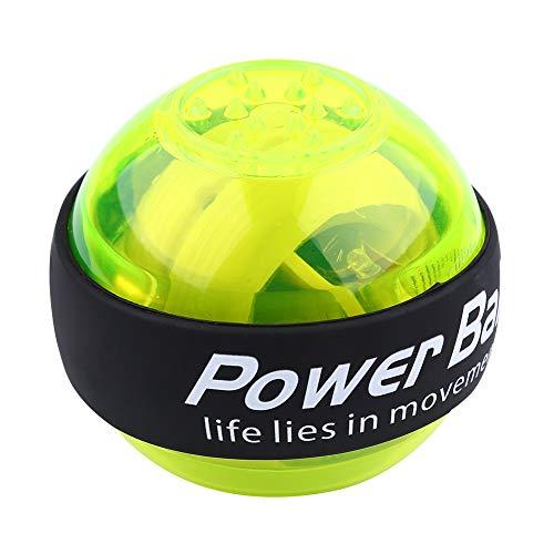 Bola del Poder del Giroscopio De La Muñeca De La Mano del Ejercicio del LED para La Fuerza Verde De La Fuerza del Tenis del Golf