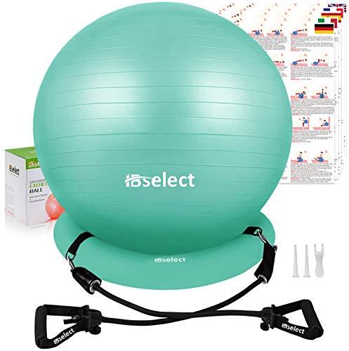 HBselect Balones De Ejercicio Fitness Pelota Pilates Embarazadas Bola De Equilibrio Fitness para Gimnasio Yoga, Verde, M