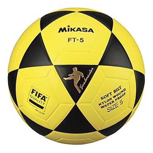 MIKASA Ball Ft-5 Bky F- Balón de fútbol, Color Negro y Amarillo