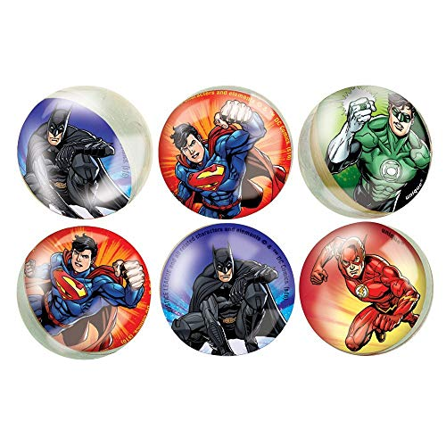 Unique 49978 - Pelotas saltarinas Justice League (paquete de 6)