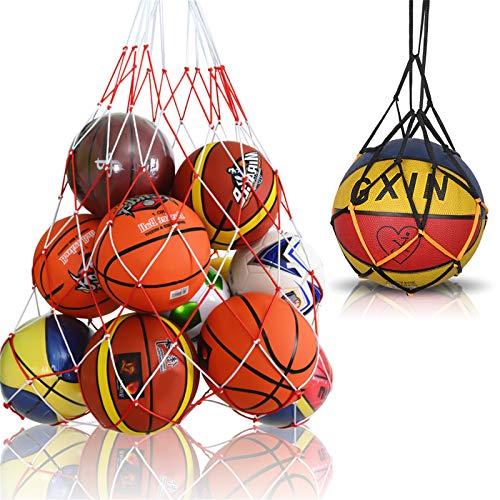 Viesap Bolso de Baloncesto, Voleibol, FúTbol, Bolsa de Almacenamiento con Cordó, Bolso de Malla de Malla de FúTbol con Una Sola Bola, Bolsa de Almacenamiento de MúLtiples Bolas, Kits de Dos TamañOs.