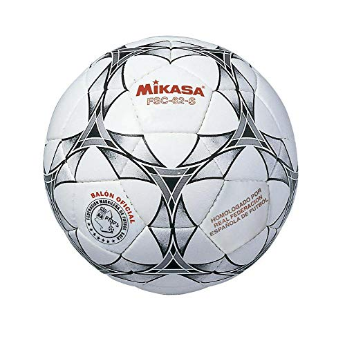 MIKASA FSC62S Balón, Unisex, Blanco/Negro, 4