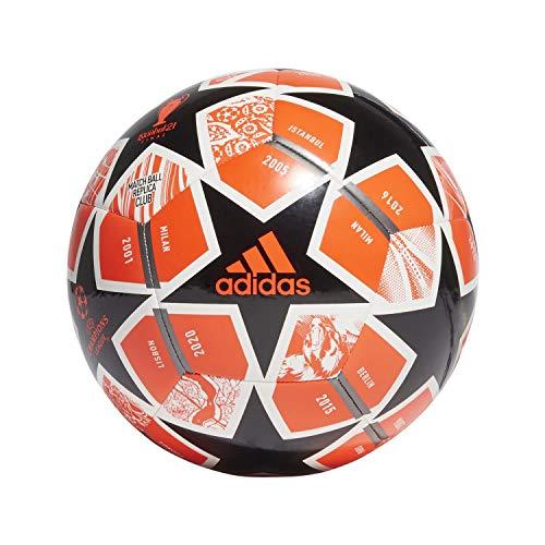adidas Finale CLB Balón, Hombre, Rojsol/Negro/Blanco/HIEMET (Multicolor), 3