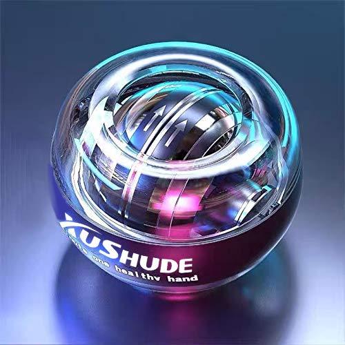 El giroscopio comienza a, girar automáticamente la bola de la muñeca, la bola de energía luminosa LED, la bola de potencia, que se utiliza para entrenar manos y brazos, accesorios de fitness