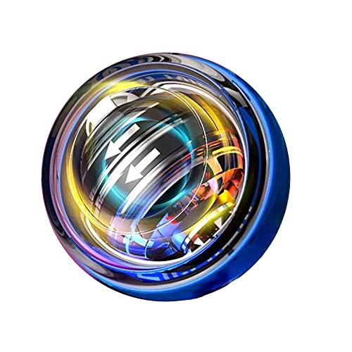 Power Ball,Pelota de muñeca de potencia de arranque automático, ejercicios de bola giroscópica, brazo de ejercicio, bola de fuerza, correa Stress Ball equipo de fitness con LED Spin Ball
