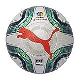Puma Laliga 1 (FIFA Quality Pro) Balón de Fútbol, Unisex Adulto, Gris White-Green Glimmer-Nrgy Red, 5