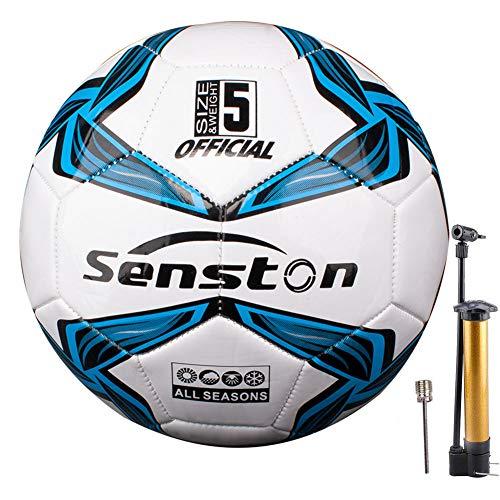 Senston Balones de Futbol Tamaño 5 Competición Training Balón, Unisex Adulto