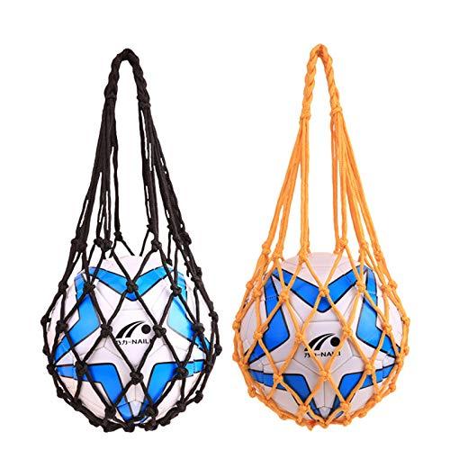 Sprießen Bolso de Red de Fútbol Bolso de Malla de Balones de Nailon 2 Pcs Carry Net Bag de Transporte con Asas para Baloncesto Voleibol Rugby