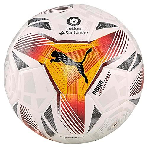 PUMA Pelota LaLiga 1 Accelerate Hybrid Ball, Puma White-Multi Colour