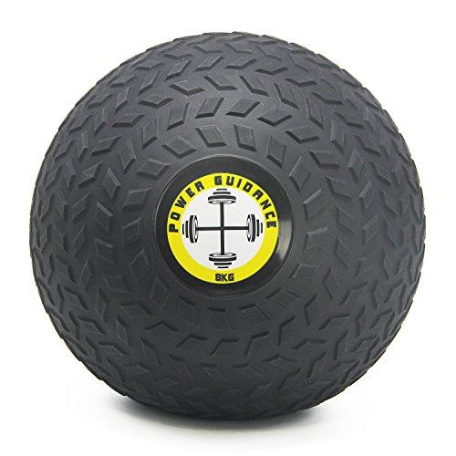 POWER GUIDANCE Slam Ball Balón Medicinal Antideslizante Ideal para los Ejercicios de Functional Fitness - 3kg