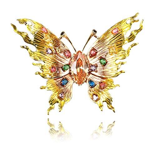 CAPOOK -Europa y la Mariposa de Navidad Estados Unidos Broche con Incrustaciones en Tres Dimensiones exageradas aleación de Insectos día de Navidad Regalo de la joyería Pin Collar Sencillo Moda