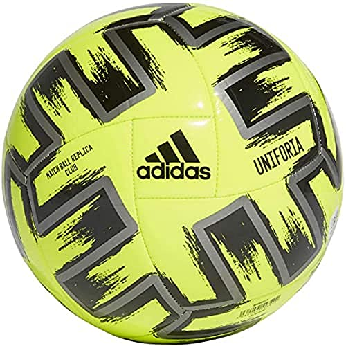 adidas UNIFO CLB Balón de Fútbol, Men's, Solar Yellow/Iron Met./Black, 5