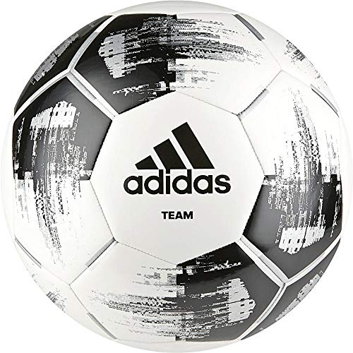 adidas Team Glider Balón de Fútbol, Hombre, White/Black/Silver Met, 5