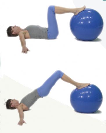 Ejercicio puente con pelota pilates
