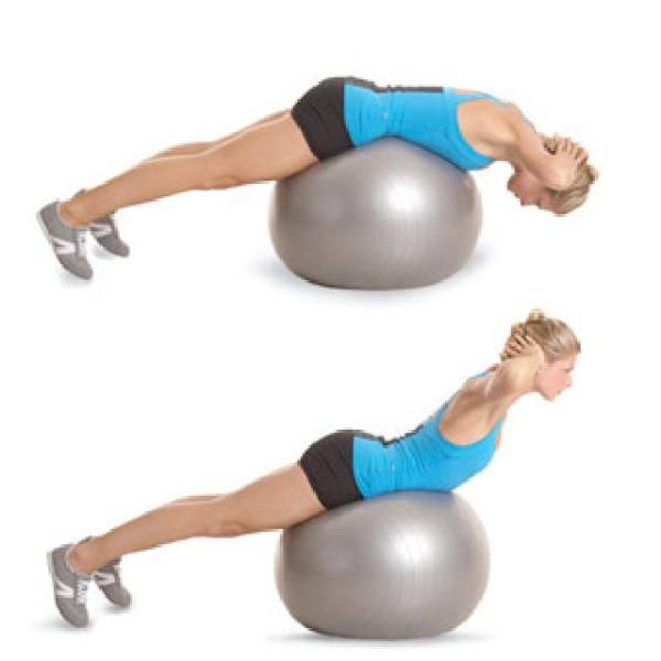 Flexiones con pelota pilates