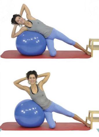 Oblicuos con pelota pilates